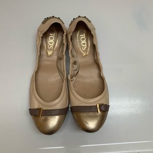 Tods Leather Ballet Flats
